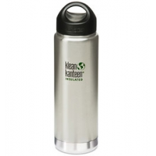 20 oz Wide Mouth Loop Cap Insulated Bottle - Brushed Stainless
