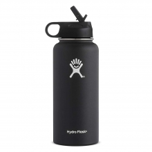 32oz Wide Mouth Insulated Bottle with Straw Lid