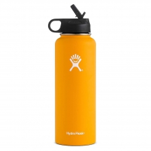 40oz Wide Mouth Insulated Bottle with Straw Lid