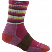 Women's Coolmax Stripes Micro Crew Sock Cushion by Darn Tough in Mansfield Ma