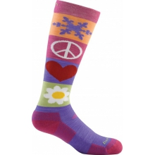 Kid's Peace Love Snow Jr. Over-the-Calf Light by Darn Tough