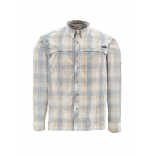 Stone Cold Long Sleeve Fishing Shirt Closeout Sale - SLATE BLUE PLAID,S in Tulsa, OK