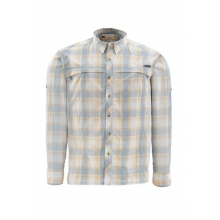Stone Cold Long Sleeve Fishing Shirt Closeout Sale - SLATE BLUE PLAID,S in Oklahoma City, OK