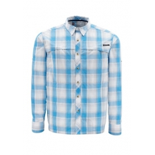 Simms Stone Cold Long Sleeve Shirt Closeout Sale - Moonstone Plaid,S by Platte River Fly Shop
