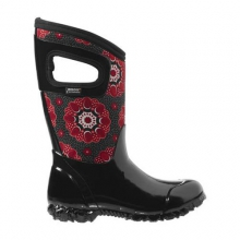 North Hamptons Kaleidoscope Snow Boots - Kid's: Black/Multi, 2Y by BOGS