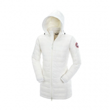 Camp Hooded Jacket Womens (White) by Canada Goose