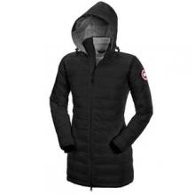 Camp Hooded Down Jacket Women's, Black, L by Canada Goose