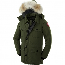 Mens Banff Parka - Closeout Military Green XL by Canada Goose