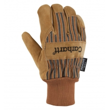 Men's Suede Work Knit Cuff Glove Brown