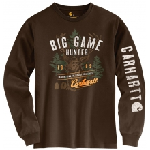 Men's Graphic Big Game Hunter L/S T-Shirt Dark Brown