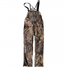 Men's Quilt Lined Camo Overall Bib