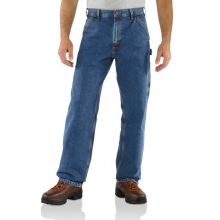 Men's Washed Denim Work Dungaree Jeans