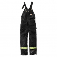Men's Hight-Visibility Striped Duck Bib Overall