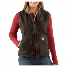 Women's Sandstone Mock Neck Vest by Carhartt