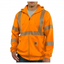 Men's Hight-Visibility Zip Front Class 3 Sweatshirt