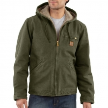 Men's Sandstone Sierra Jacket/Sherpa Lined by Carhartt