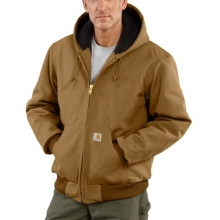 Men's Duck Active Jac/Quilted-Flannel Lined Jacket by Carhartt