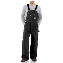 Men's Quilt Lined Zip To Thigh Bib Overall