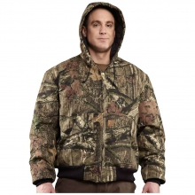 Men's Quilted Flannel Lined Workcamo Active Jacket