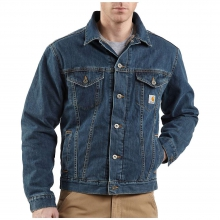 Men's Sherpa Lined Denim Jean Jacket