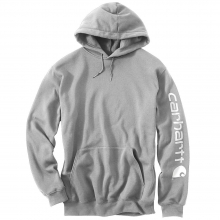 Men's Midweight Signature Sleeve Logo Hooded Sweatshirt by Carhartt in Anchorage AK