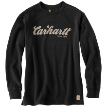 Men's Textured Knit Script Graphic Crewneck Top