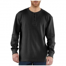 Men's Textured Knit Henley Top