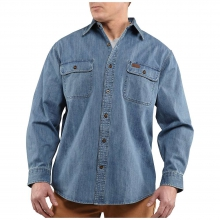 Men's Washed Denim Work Shirt