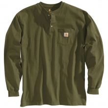 Men's Workwear Pocket Long Sleeve Henley Top by Carhartt