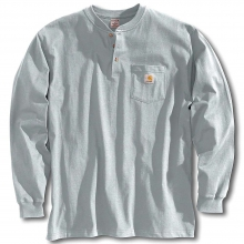 Men's Workwear Pocket Long Sleeve Henley Top by Carhartt in Anchorage AK