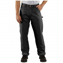 Men's Firm Duck Double-Front Dungaree Flannel-Lined Pant