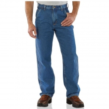 Men's Original Fit Work Dungaree Flannel Lined Jean by Carhartt