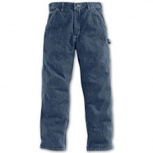 Men's Washed Denim Work Dungaree Jeans by Carhartt