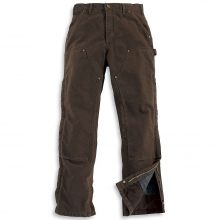 Men's Sandstone Waist Overall Quilt Lined Pant by Carhartt in Anchorage AK