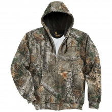 Men's Midweight WorkCamo Hooded Zip-Front Sweatshirt by Carhartt