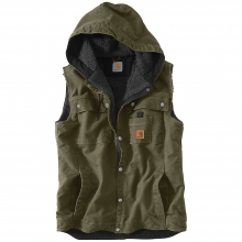 Men's Sandstone Hooded Multi Pocket Vest