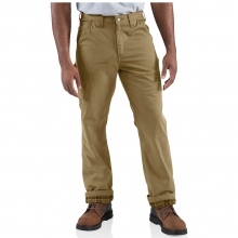 Men's Washed Twill Dungaree Flannel Lined Pant