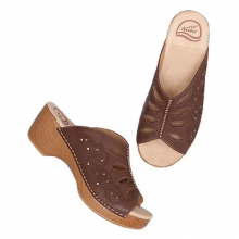 Women's Sheri Chocolate Full Grain Shoes by Dansko