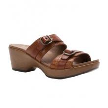 Jessie Sandal - Women's-Caramel Croc Leather-41 by Dansko