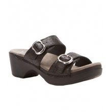 Sophie Sandal - Women's-Black Floral Tooled-37 by Dansko