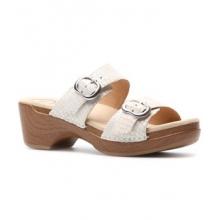 Sophie Sandal - Women's-White Croc Leather-40 by Dansko