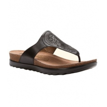 Priya Sandal - Women's-Black Veg Leather-40