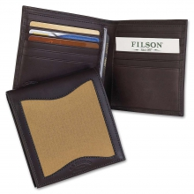 Leather and Twill Packer Wallet by Filson