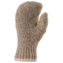 Double Ragg Wool Mitts - Brown Tweed In Size by Fox River