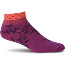 Floral Wrap Sock Womens - Violet M/L by Goodhew