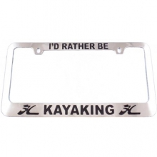 "License Frame - Chrome ""Kayak"""