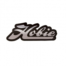 Decal,  Script Chrome/Blk by Hobie