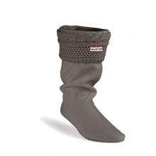 Women's Moss Cable Cuff Welly Socks Graphite M
