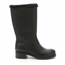 Women's Original Shearling Line Leather Pull On Boot by Hunter