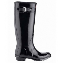 Hunter Original Gloss Tall Rain Boot - Women's-Black-10 in Huntsville, AL
